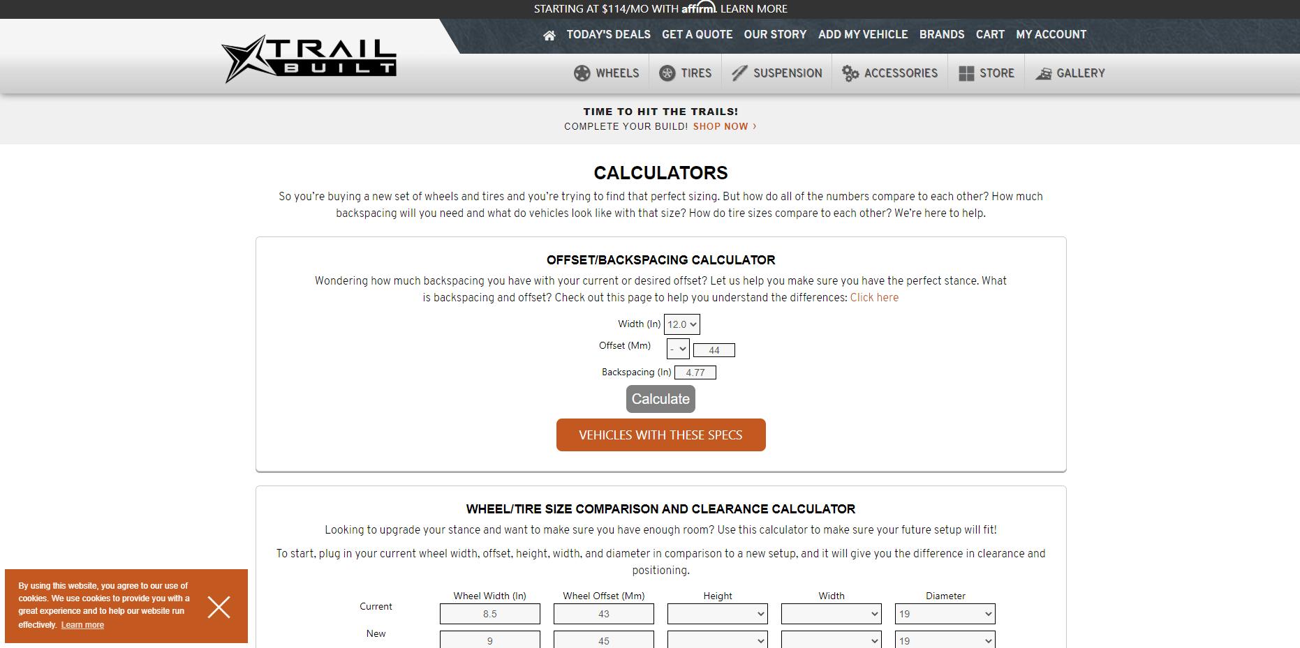 TB Fitment Calculator