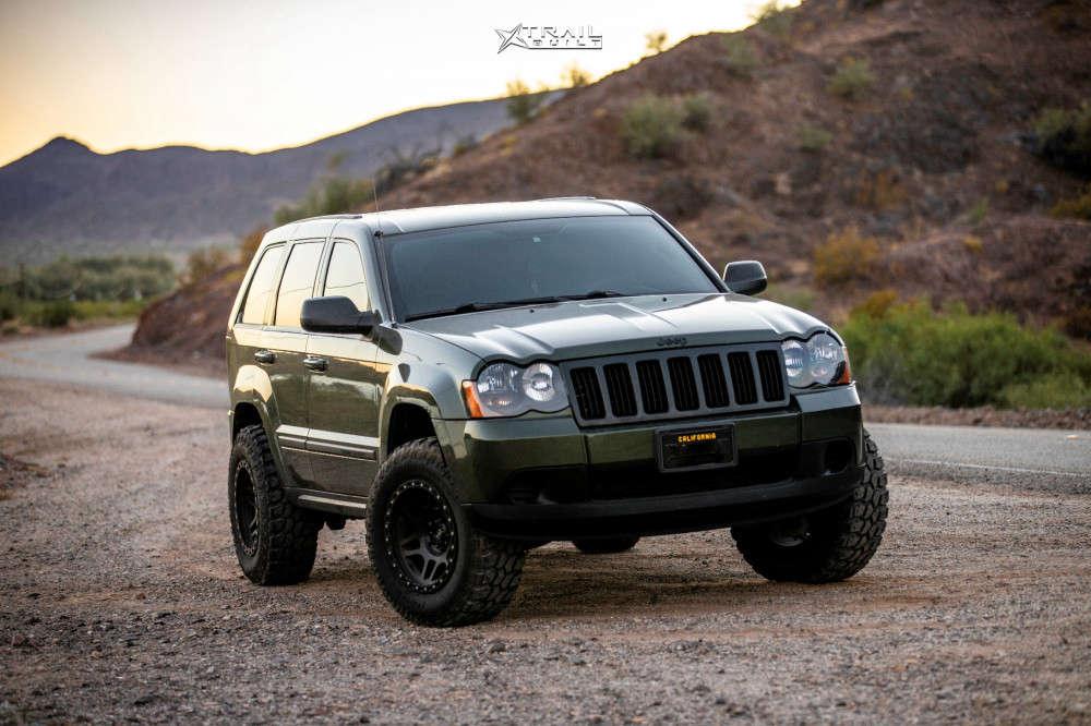 2009 jeep cherokee hardrock wheels rough country suspension