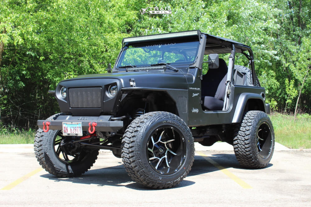 Lifted Jeep TJ with Vision Wheels